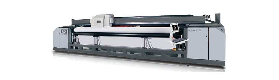 高速5m広幅UV出力機 HP Scitex XP5100 (最大出力幅:5000mm)